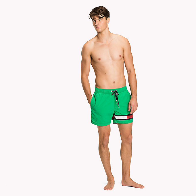 TOMMY HILFIGER Flag Leg Swim Shorts - BLACK - TOMMY HILFIGER Men - main image