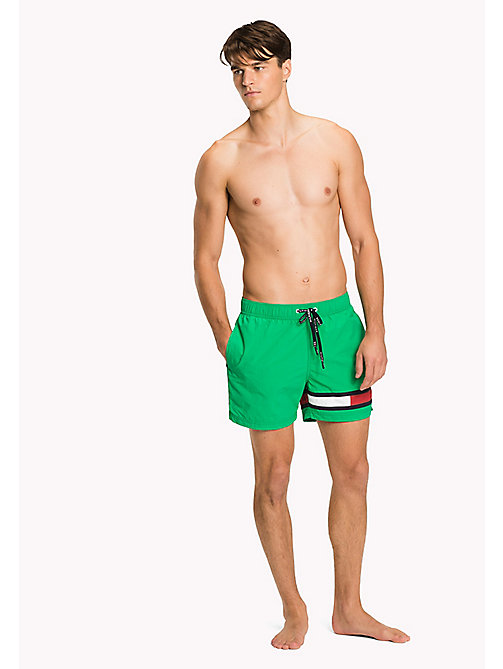 TOMMY HILFIGER Flag Leg Swim Shorts - DEEP MINT - TOMMY HILFIGER Swimwear - main image
