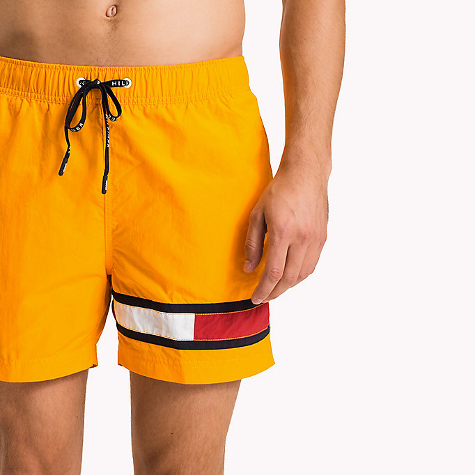 TOMMY HILFIGER Flag Leg Swim Shorts - PINK GLO - TOMMY HILFIGER Clothing - detail image 2