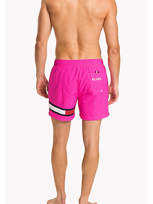 TOMMY HILFIGER Badeshorts mit Flag am Bein - PINK GLO - TOMMY HILFIGER Bademode - main image 1