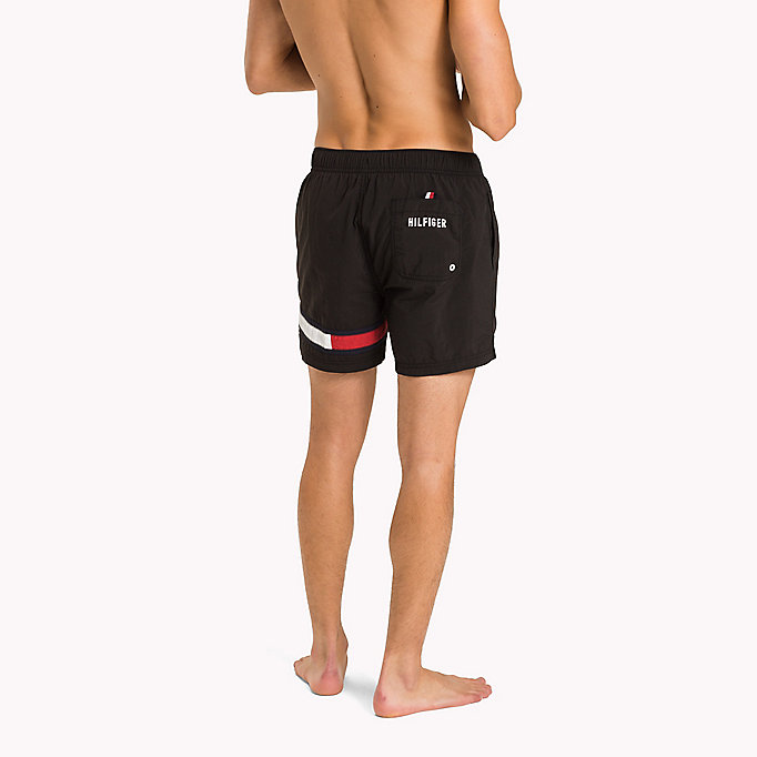 TOMMY HILFIGER Flag Leg Swim Shorts - FLAME SCARLET - TOMMY HILFIGER Men - detail image 1