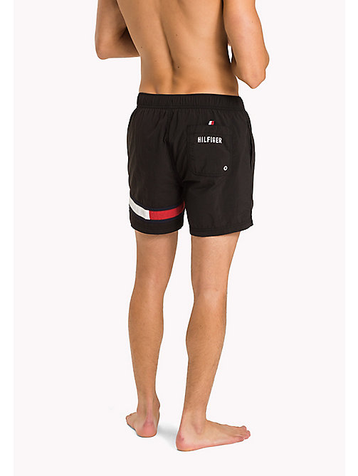 TOMMY HILFIGER Flag Leg Swim Shorts - BLACK - TOMMY HILFIGER Swimwear - detail image 1