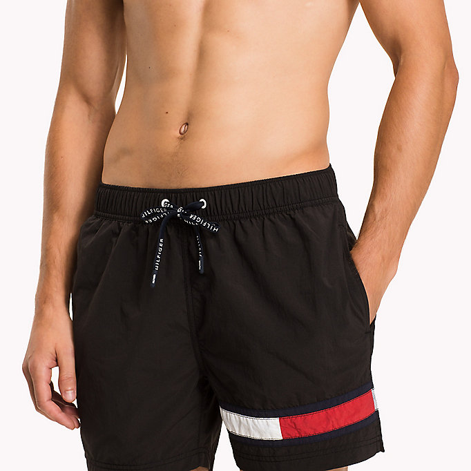 TOMMY HILFIGER Flag Leg Swim Shorts - FLAME SCARLET - TOMMY HILFIGER Men - detail image 2