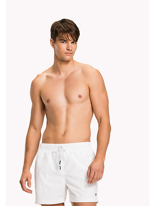 TOMMY HILFIGER Logo Drawstring Swim Shorts - BRIGHT WHITE - TOMMY HILFIGER Swim styles - main image
