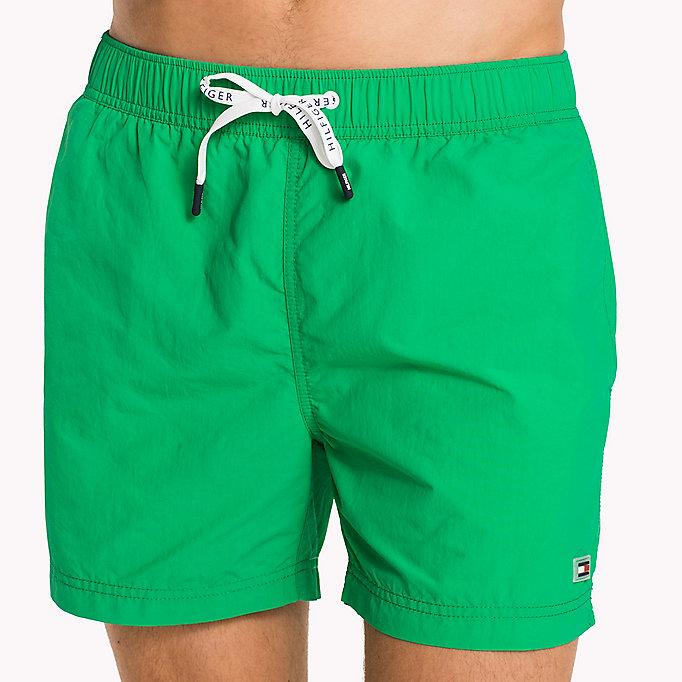 TOMMY HILFIGER Logo Drawstring Swim Shorts - BRIGHT WHITE - TOMMY HILFIGER Men - detail image 2