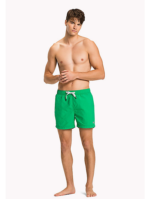 TOMMY HILFIGER Logo Drawstring Swim Shorts - DEEP MINT - TOMMY HILFIGER Swimwear - main image