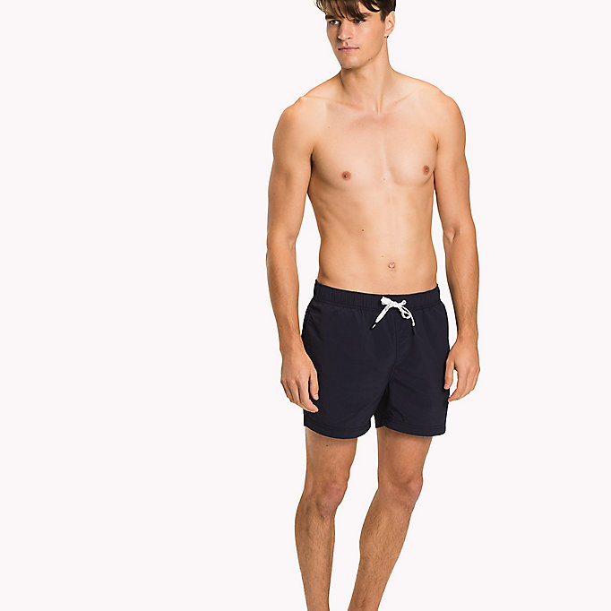 TOMMY HILFIGER Logo Drawstring Swim Shorts - DEEP MINT - TOMMY HILFIGER Men - main image