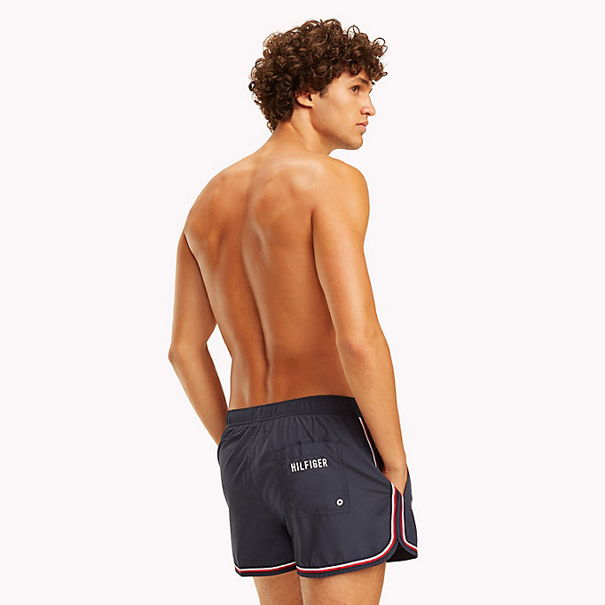 TOMMY HILFIGER Signature Stripe Swim Shorts - TANGO RED - TOMMY HILFIGER Men - detail image 1