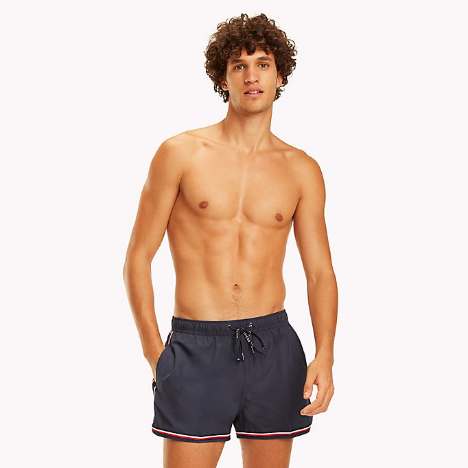 TOMMY HILFIGER Signature Stripe Swim Shorts - TANGO RED - TOMMY HILFIGER Men - main image