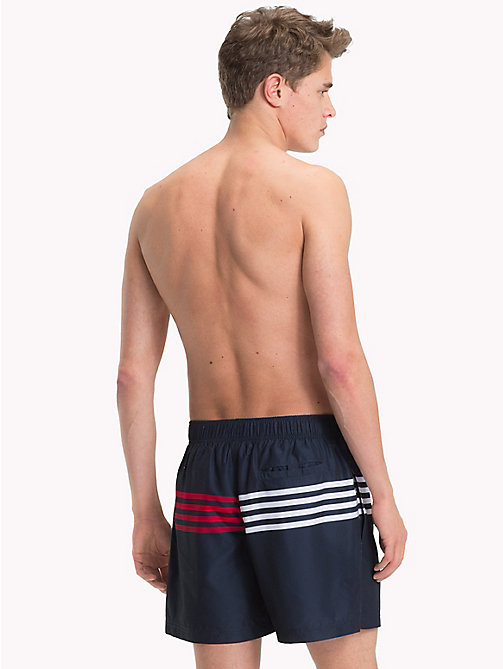 TOMMY HILFIGER Stripe Drawstring Medium Swim Shorts - NAVY BLAZER - TOMMY HILFIGER Swimwear - detail image 1