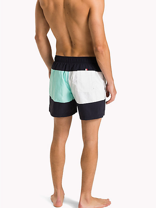 TOMMY HILFIGER Colour-Blocked Swim Shorts - NAVY BLAZER-ARUBA BLUE - TOMMY HILFIGER Swimwear - detail image 1