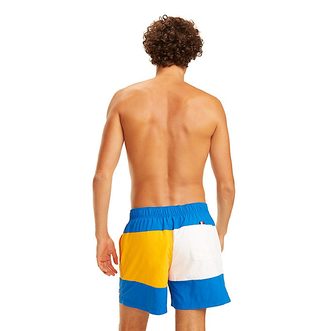 TOMMY HILFIGER Colour-Blocked Swim Shorts - NAVY BLAZER-ARUBA BLUE - TOMMY HILFIGER Men - detail image 1