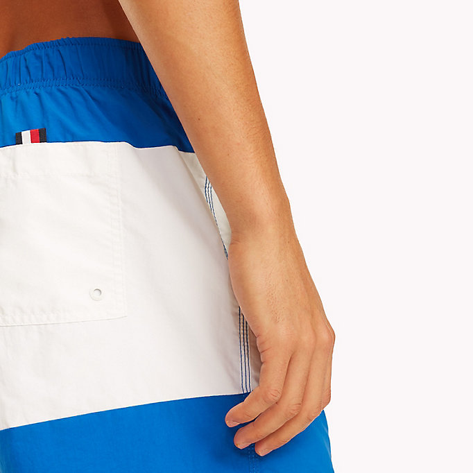TOMMY HILFIGER Colour-Blocked Swim Shorts - NAVY BLAZER-ARUBA BLUE - TOMMY HILFIGER Men - detail image 2