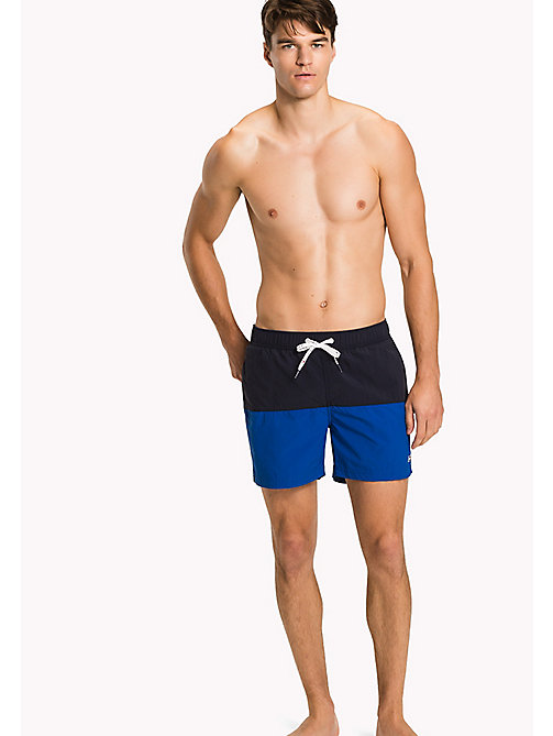 TOMMY HILFIGER Colour-Blocked Swim Shorts - NAVY BLAZER/LAPIS BLUE - TOMMY HILFIGER Swimwear - main image
