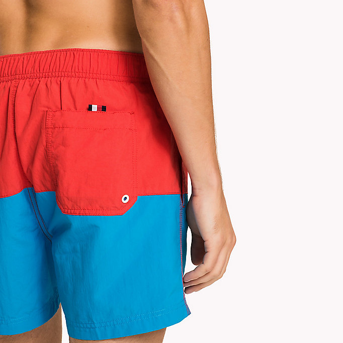 TOMMY HILFIGER Colour-Blocked Swim Shorts - NAVY BLAZER - TANGO RED - TOMMY HILFIGER Men - detail image 2