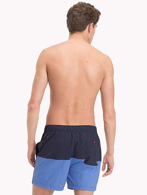 TOMMY HILFIGER Colour-Blocked Short Swim Shorts - NAVY BLAZER - ULTRAMARINE BLUE - TOMMY HILFIGER Swimwear - detail image 1