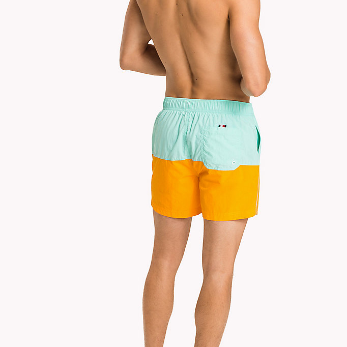 TOMMY HILFIGER Colour-Blocked Swim Shorts - FLAME SCARLET/ATOMIC BLUE - TOMMY HILFIGER Men - detail image 1