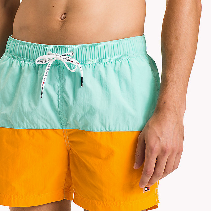TOMMY HILFIGER Colour-Blocked Swim Shorts - FLAME SCARLET/ATOMIC BLUE - TOMMY HILFIGER Men - detail image 2