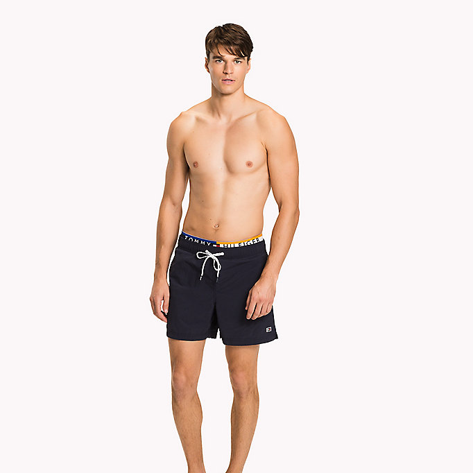 TOMMY HILFIGER Logo Waistband Swim Shorts - DEEP MINT - TOMMY HILFIGER Men - main image
