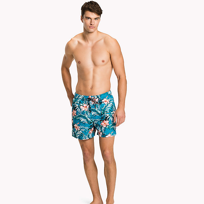 TOMMY HILFIGER Flower Print Swim Shorts - HIBISCUS PRINT NAVY BLAZER - TOMMY HILFIGER Clothing - main image