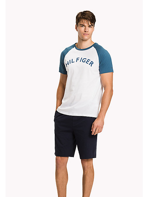 TOMMY HILFIGER Organic Cotton Lounge T-Shirt - BLUE ASHES - TOMMY HILFIGER Pyjama Tops - main image