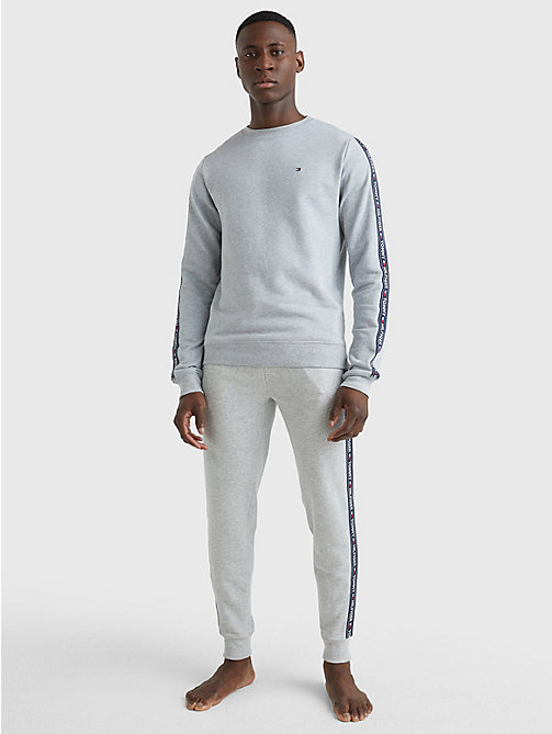 TOMMY HILFIGER TRACK TOP LS HWK - GREY HEATHER - TOMMY HILFIGER Pyjama Tops - detail image 1