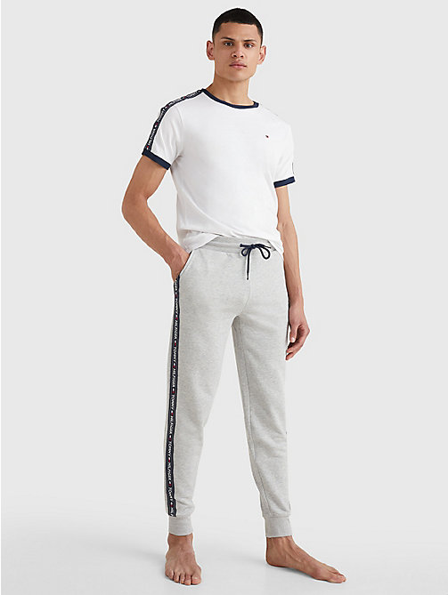 TOMMY HILFIGER Logo Tape Joggers - GREY HEATHER - TOMMY HILFIGER Pyjama Bottoms - detail image 1