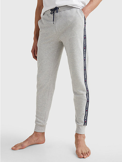 TOMMY HILFIGER Cotton Blend Terry Sweatpants - GREY HEATHER - TOMMY HILFIGER Pyjama Bottoms - main image