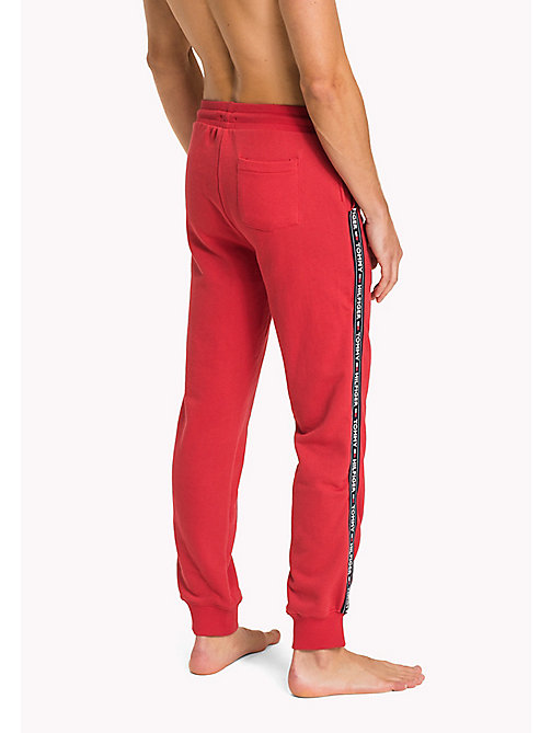 TOMMY HILFIGER Logo Tape Joggers - TANGO RED - TOMMY HILFIGER Pyjama Bottoms - detail image 1