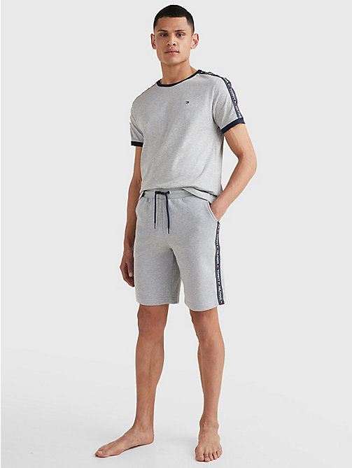 TOMMY HILFIGER Side Logo Drawstring Shorts - GREY HEATHER - TOMMY HILFIGER Pyjama Bottoms - detail image 1