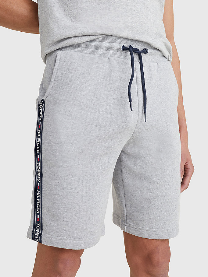 grey side logo drawstring shorts for men tommy hilfiger