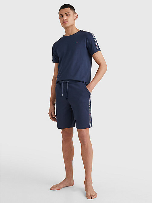 TOMMY HILFIGER Side Logo Drawstring Shorts - NAVY BLAZER - TOMMY HILFIGER Pyjama Bottoms - detail image 1