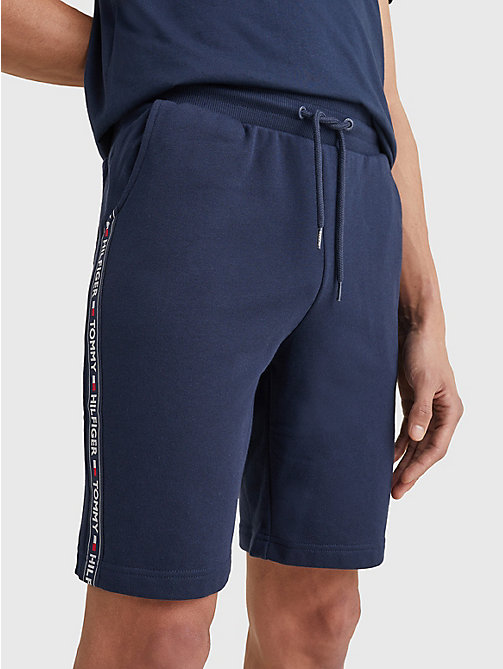 TOMMY HILFIGER Side Logo Drawstring Shorts - NAVY BLAZER - TOMMY HILFIGER Pyjama Bottoms - main image