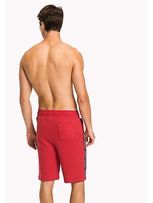 TOMMY HILFIGER Logo Tape Shorts - TANGO RED - TOMMY HILFIGER Pyjama Bottoms - detail image 1