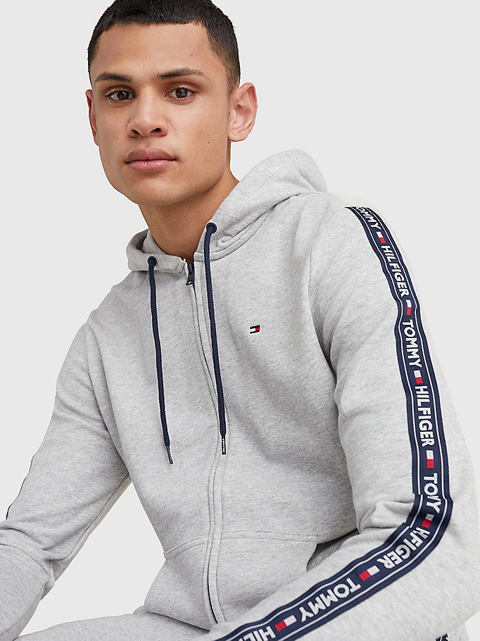 TOMMY HILFIGER Zip Thru Logo Hoody - TANGO RED - TOMMY HILFIGER Men - detail image 2