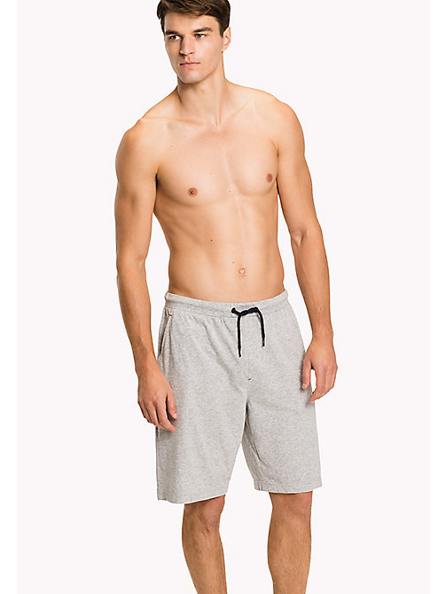 TOMMY HILFIGER Cotton Jersey Pyjama Shorts - GREY HEATHER - TOMMY HILFIGER Pyjama Bottoms - main image