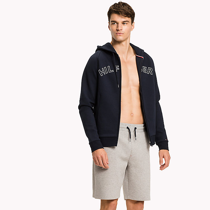 TOMMY HILFIGER Zip-Thru Hoodie - GREY HEATHER - TOMMY HILFIGER Men - main image