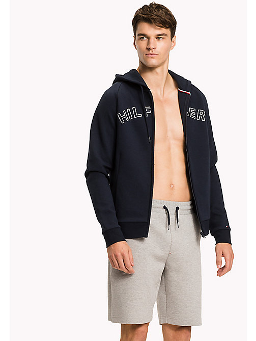 TOMMY HILFIGER Zip-Thru Hoodie - NAVY BLAZER - TOMMY HILFIGER Clothing - main image