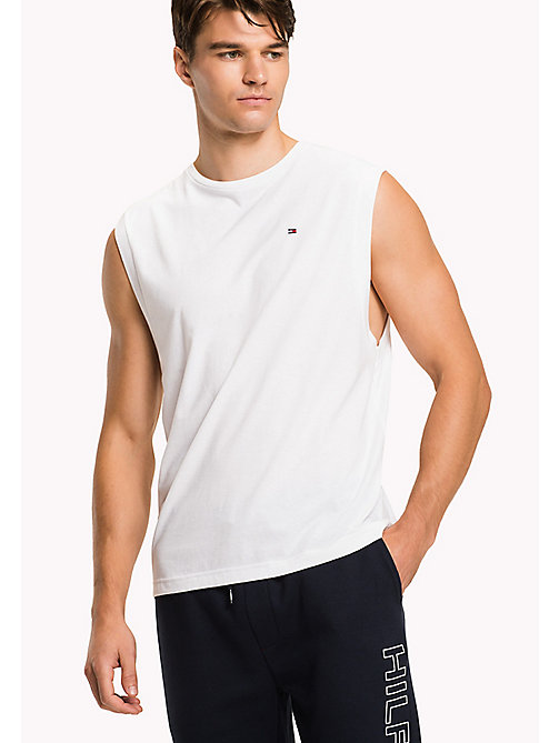 TOMMY HILFIGER Cotton Lounge Tank Top - WHITE - TOMMY HILFIGER Pyjama Tops - main image
