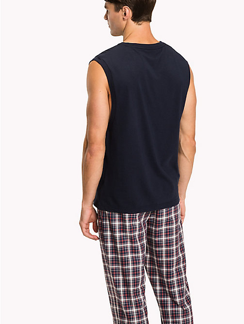 TOMMY HILFIGER Cotton Lounge Tank Top - NAVY BLAZER - TOMMY HILFIGER Pyjama Tops - detail image 1