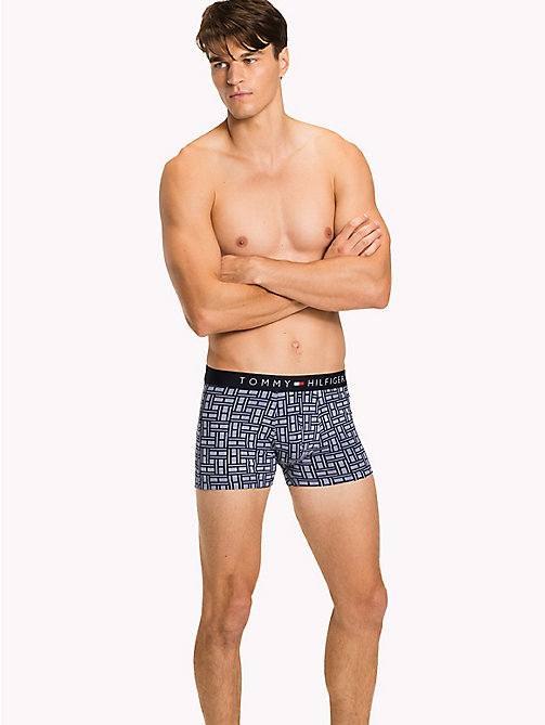 TOMMY HILFIGER 3-Pack Cotton Trunks - INFINITY/DEEP SEA CORAL/NAVY BLAZER - TOMMY HILFIGER Packs - main image