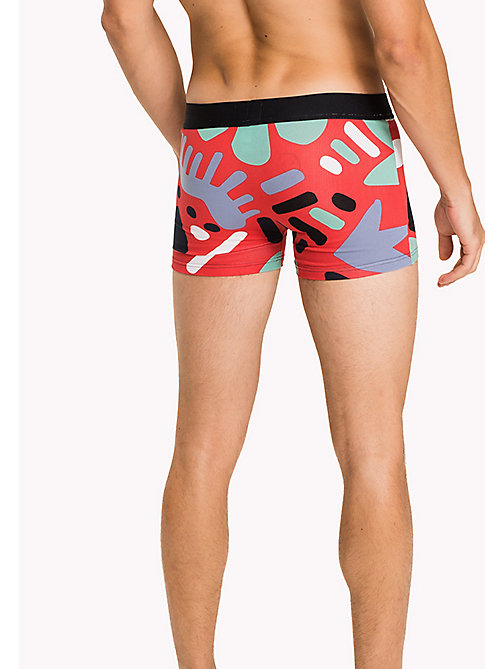 TOMMY HILFIGER Cotton Abstract Trunks - TOMATO - TOMMY HILFIGER Trunks - detail image 1