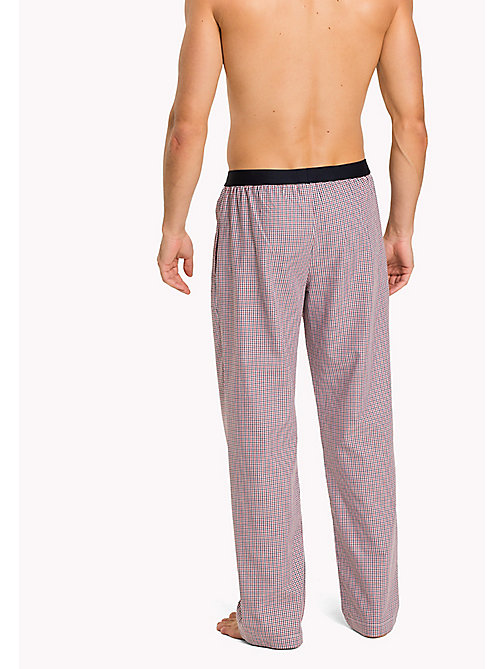 TOMMY HILFIGER Woven Check Cotton Pyjama Trousers - TANGO RED - TOMMY HILFIGER Pyjama Bottoms - detail image 1