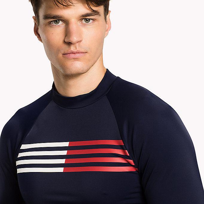TOMMY HILFIGER UV Sun Protection Rashguard - BLUE DANUBE - TOMMY HILFIGER Men - detail image 2