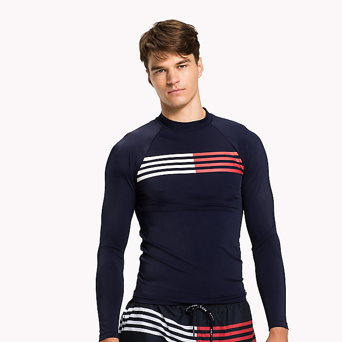 TOMMY HILFIGER UV Sun Protection Rashguard - BLUE DANUBE - TOMMY HILFIGER Men - main image