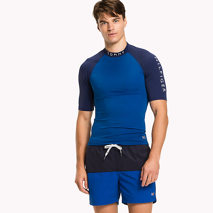 TOMMY HILFIGER Swim Rash Guard - NAVY BLAZER - TOMMY HILFIGER Men - main image
