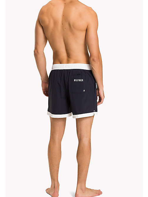 TOMMY HILFIGER Badge Swim Shorts - NAVY BLAZER - TOMMY HILFIGER Swimwear - detail image 1