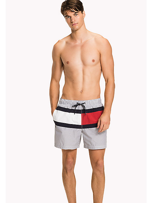 TOMMY HILFIGER Stripe Swim Shorts - NAVY BLAZER - TOMMY HILFIGER Swimwear - main image