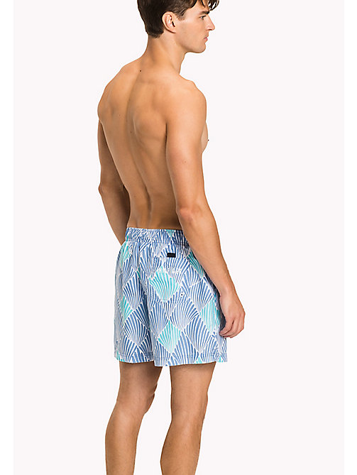TOMMY HILFIGER Shell Swim Shorts - SHELL PRINT BLUE CURACAO - TOMMY HILFIGER Underwear & Loungewear - detail image 1