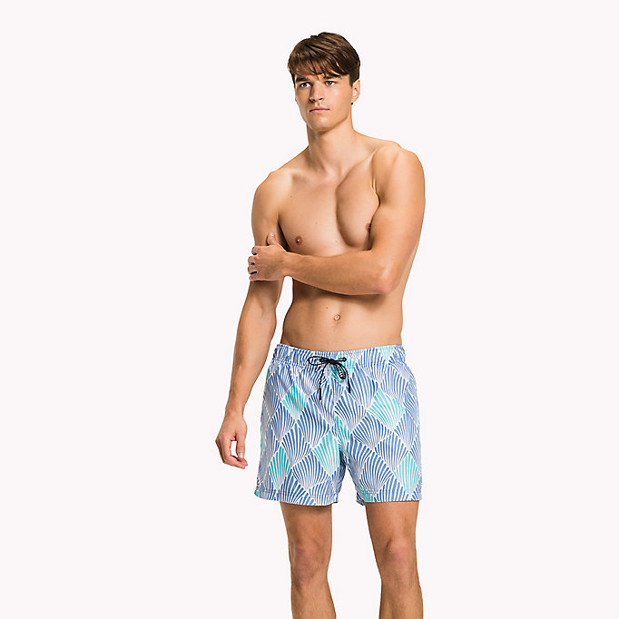 TOMMY HILFIGER Shell Swim Shorts - SHELL PRINT NAVY BLAZER - TOMMY HILFIGER Men - main image